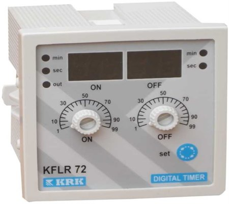 KFLR 72-Analog Ayarlı Dijital Göstergeli Çift Zaman Ayarlı Zaman Rölesi