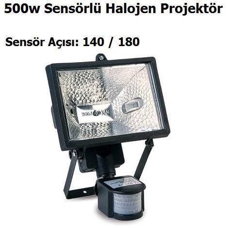 500w Sensörlü Halojen Projektör