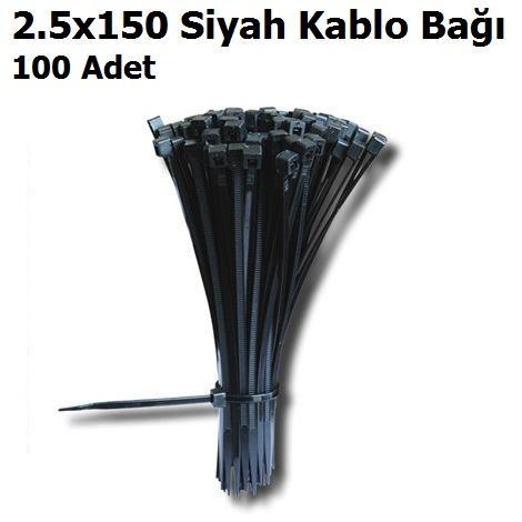 2.5x150 Siyah Kablo Bağı