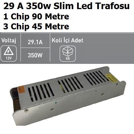 30 Amper 350w Slim Şerit Led Trafosu