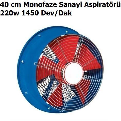 40 cm Monofaze Sanayi Aspiratörü