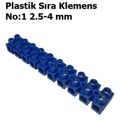 No:1 2.5-4 mm Plastik Sıra Klemens