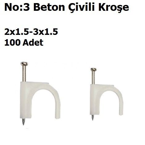 No:3 2x1.5-3x1.5 Beton Çivili Kroşe