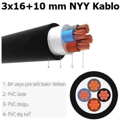 3x16+10 mm NYY Kablo