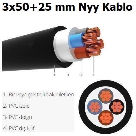 3X50+25 MM NYY KABLO