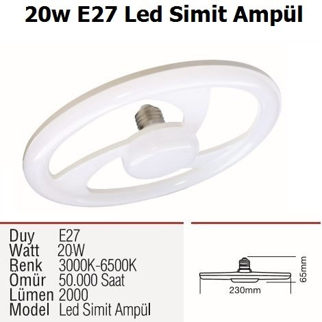 20w E27 Led Simit Ampül