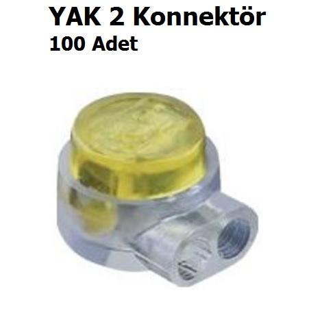 100 Adet YAK 2 Konnektör