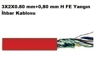 3X2X0.80 mm+0,80 mm H FE Yangın İhbar Kablosu
