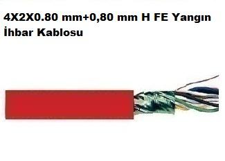 4X2X0.80 mm+0,80 mm H FE Yangın İhbar Kablosu