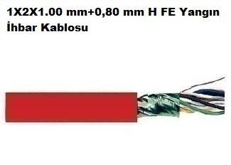 1X2X1.00 mm+0,80 mm H FE Yangın İhbar Kablosu