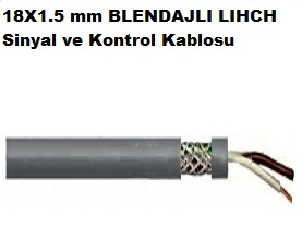 18X1.5 mm BLENDAJLI LIHCH Sinyal ve Kontrol Kablosu