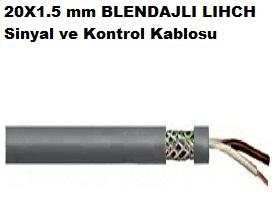 20X1.5 mm BLENDAJLI LIHCH Sinyal ve Kontrol Kablosu