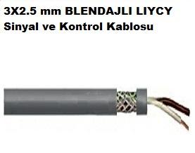 3X2.5 mm BLENDAJLI LIYCY Sinyal ve Kontrol Kablosu
