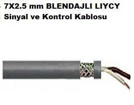 7X2.5 mm BLENDAJLI LIYCY Sinyal ve Kontrol Kablosu