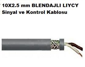 10X2.5 mm BLENDAJLI LIYCY Sinyal ve Kontrol Kablosu