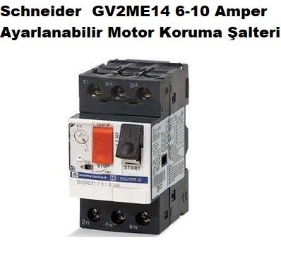 Schneider GV2ME14 6-10A Ayarlanabilir Motor Koruma Şalteri