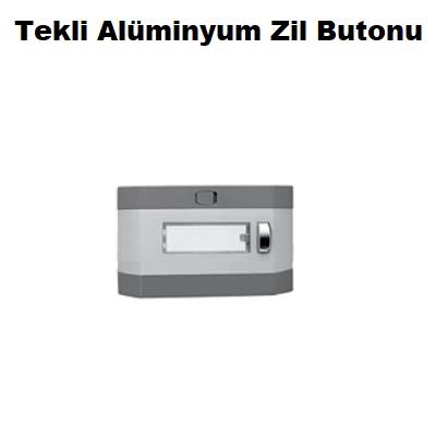 Tekli Alüminyum Zil Butonu