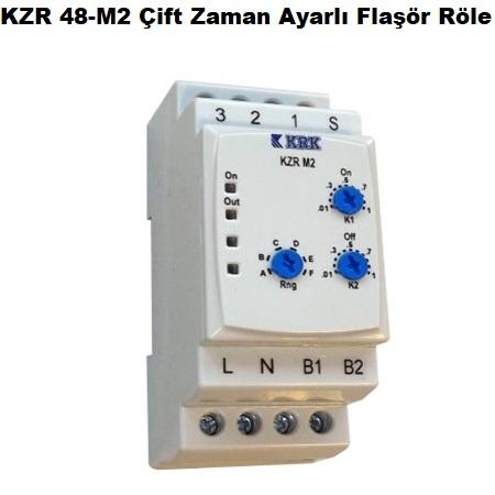 KZR 48-M2 Çift Zaman Ayarlı Flaşör Röle
