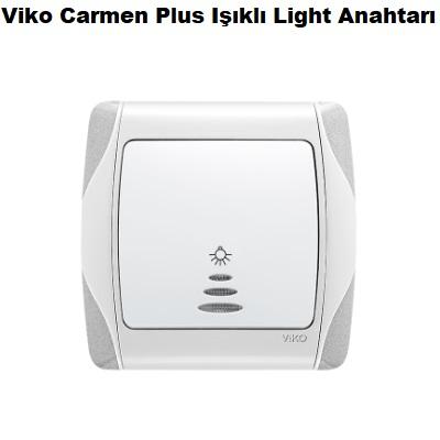 Viko Carmen Plus Işıklı Light Anahtarı