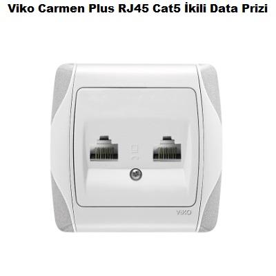 Viko Carmen Plus RJ45 Cat5 İkili Data Prizi