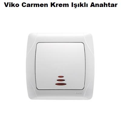Viko Carmen Krem Işıklı Anahtar