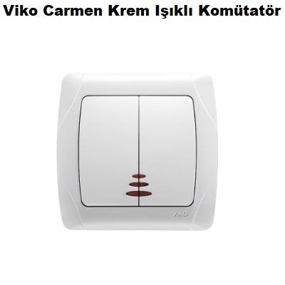 Viko Carmen Krem Işıklı Komütatör