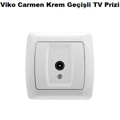 Viko Carmen Krem Geçişli TV Prizi