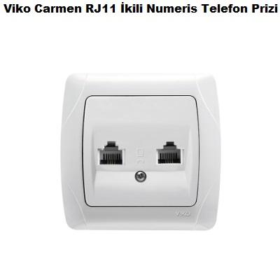 Viko Carmen RJ11 İkili Numeris Telefon Prizi