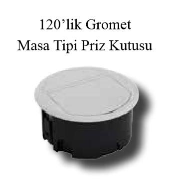 120`lik Gromet Masa Tipi Priz Kutusu