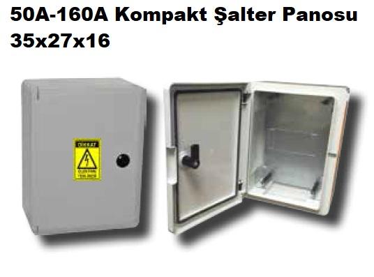 35x27x16 50A-160A Kompakt Şalter Panosu