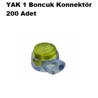 200 Adet YAK 1 Konnektör (Boncuk)