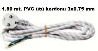 1.80 Metre PVC Ütü Kordonu 3x0.75 mm